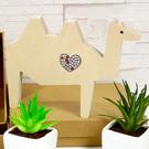 【全館5折】WaBao ZAKKA雜貨 韓國正品動物造型+愛心形水晶家居擺飾 (駱駝) =K00005=