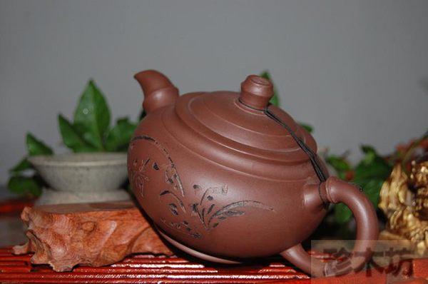 320毫升宜興正品原礦黃龍山紫泥 茶壺