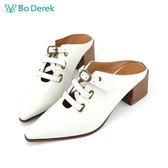 Bo Derek 扣環式高跟穆勒鞋-米色