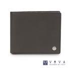 VOVA • 沃汎 - 布瑞克系列9卡透明窗零錢袋磚紋皮夾-灰色 VA110W008GY