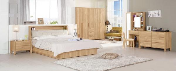 【森可家居】波里斯6尺被櫥式雙人床(置物床頭+三抽床底)(不含床墊) 7CM077-1 雙人加大
