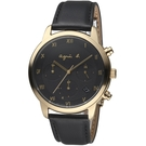 agnes b.法式簡約太陽能計時腕錶  VR42-KGD0C BZ5002P1