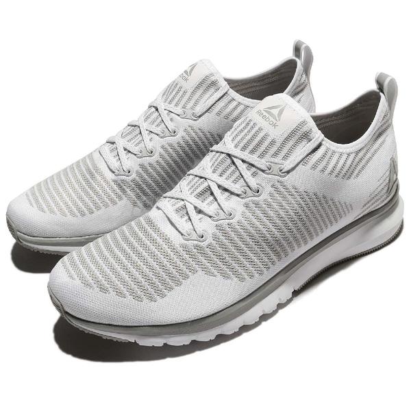 Reebok 慢跑鞋 Print Smooth 2.0 ULTK 二代 白 灰 編織 輕量舒適 運動鞋 男鞋【ACS】CN1741