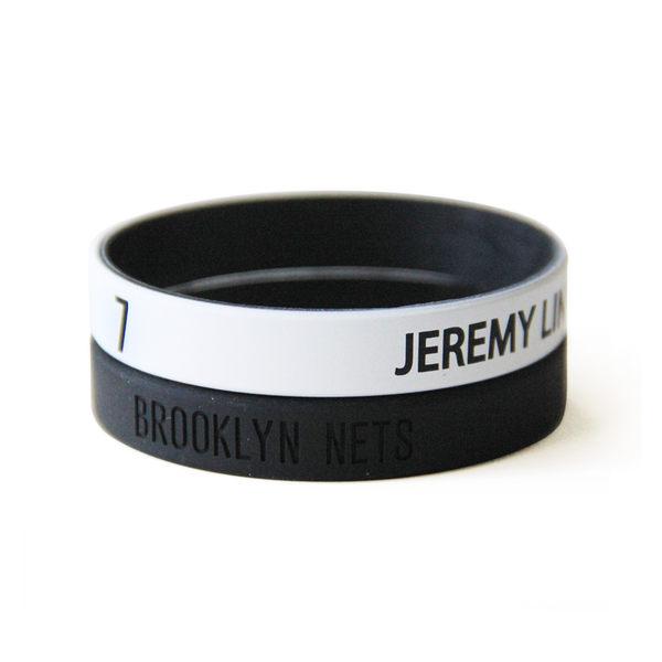 2016 NBA 官方授權 布魯克林籃網 林書豪 Jeremy Lin 運動矽膠手環 籃球運動手環 1組兩條