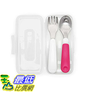 [107美國直購] 隨身刀叉 OXO Tot On-The-Go Fork & Spoon Set with Carrying Case