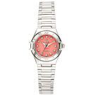 ELIDA 晶鑽貝殼面板高雅腕錶-銀x紅/23mm