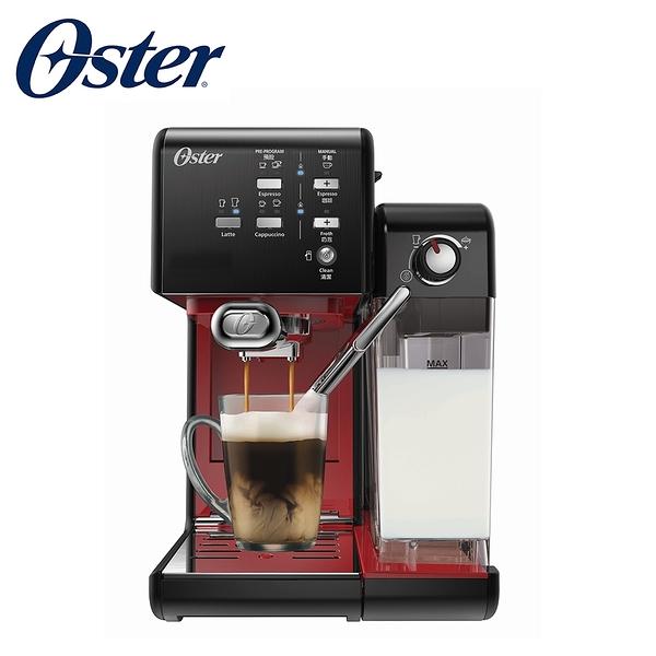 【贈Oster磨豆機BVSTCG77】【美國OSTER】頂級義式膠囊兩用咖啡機 BVSTEM6701 (搖滾黑紅)