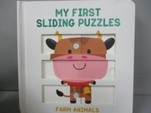 【書寶二手書T1/少年童書_IHQ】My First Sliding Puzzles: Farm Animals