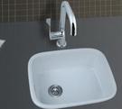 【麗室衛浴】吧檯廚房專用陶瓷上崁盆 C-760-2   43*37*18cm
