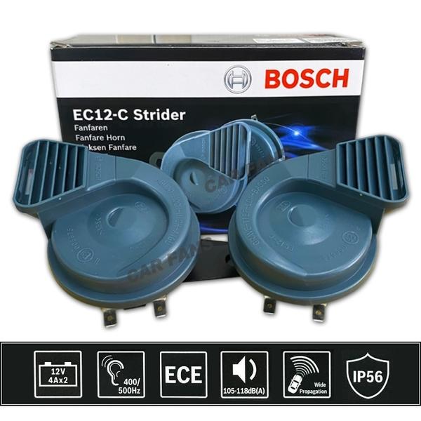 【愛車族】 BOSCH EC12-C STRIDER高低音汽車喇叭 12V 灰色