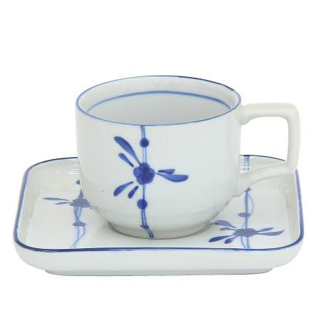 咖啡杯盤組 藍梅 335-I3+418-I3 NITORI宜得利家居