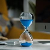 沙漏 計時器桌面擺件創意生日圣誕節禮物玻璃時光時間沙漏30分鐘【快速出貨八折下殺】