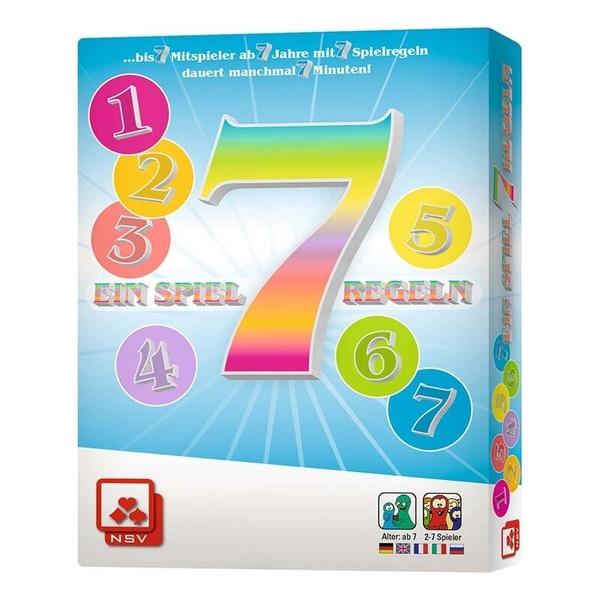 『高雄龐奇桌遊』 七 SIEBEN 7 英文版附繁體中文說明書 正版桌上遊戲專賣店