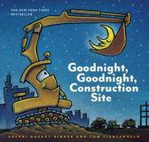 【麥克書店】GOODNIGHT GOODNIGHT CONSTRUCTION SITE /英文繪本(中譯:晚安,工程車晚安)