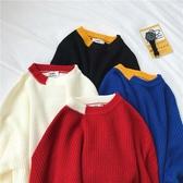 秋冬季英倫學院風毛衣女套頭外穿上衣新款時尚洋氣情侶針織衫  聖誕交換禮物