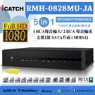 RMH-0828MU-JA2(3) 1080P 8路網路型監控主機 五合一 支援4M.AHD.TVI.960H.D1.IPC 手機遠端監控 監視設備 DVR