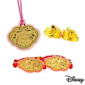 Disney迪士尼金飾 寶貝樂園五件式黃金彌月禮盒-0.5錢