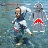 *╮小衣衫S13╭*小童寶寶可愛鯊魚防曬連身泳裝1070602