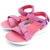 中大童  SKECHER  86965LCRL   休閒  防水  涼鞋 《7+1童鞋》 B973  粉色