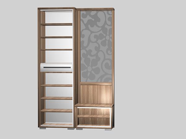 【南洋風休閒傢俱】組合櫃系列 -實木玄關櫃 碗櫥櫃 電視櫃 鞋櫃 明日香4尺屏風櫃-全組(JH549-4)
