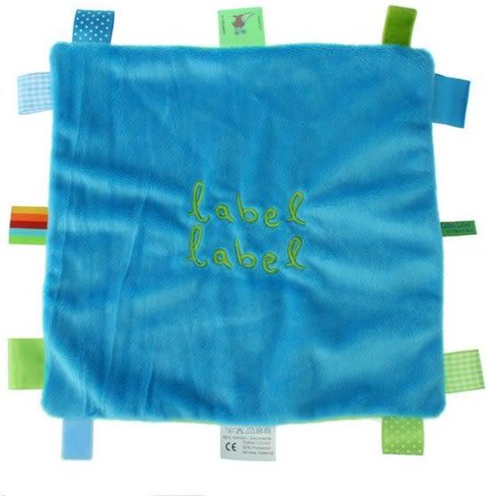 比利時 LABEL LABEL  方型安撫巾(藍/綠)