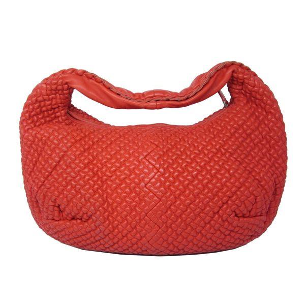 BOTTEGA VENETA BV 紅色羊皮單肩肩背包 和尚包 彎月包 Veneta 【BRAND OFF】