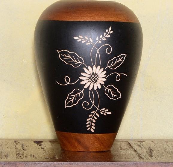 【協貿國際】泰式風格裝飾傢居手工雕刻花瓶