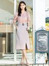 春裝上市[H2O]蕾絲裝飾拼接五分袖軟質襯衫上衣 - 白/卡/粉色 #0675010