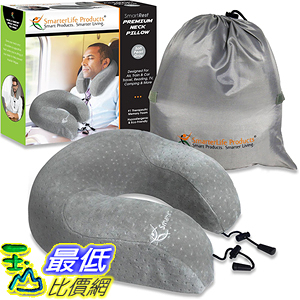 [美國直購] 航空坐飛機用頸枕睡枕枕頭 Neck Pillow SLP-TP203 for Travel & Home - Luxurious Premium Memory