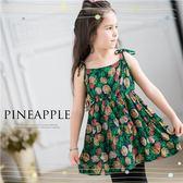 夏熱鳳梨彩果肩綁帶洋裝(250758)★水娃娃時尚童裝★