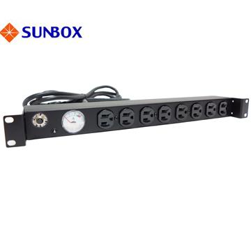 8孔20安培 指針電錶 機架型排插 (SPMA-2012-08)