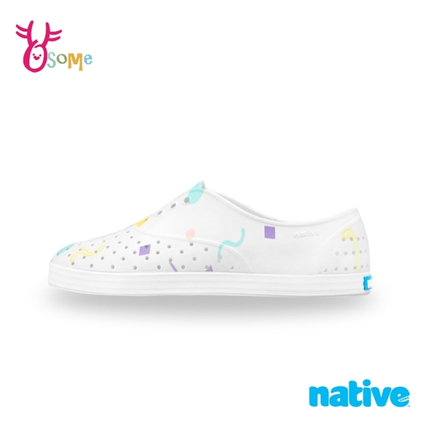 native水鞋 女鞋 修身鞋 JERICHO 洞洞鞋 休閒鞋 懶人鞋 透氣防水 M9448#白色◆OSOME奧森鞋業