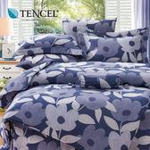 【貝淇小舖】TENCEL 頂級100%天絲《可藍非 》雙人七件式床罩組