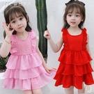 女童洋裝女童連身裙夏裝新款兒童裙子小女孩女寶寶公主裙夏季洋氣時尚 快速出貨