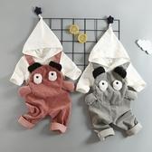 童裝兒童男寶寶秋裝套裝男童背帶褲小童1嬰兒 居享優品
