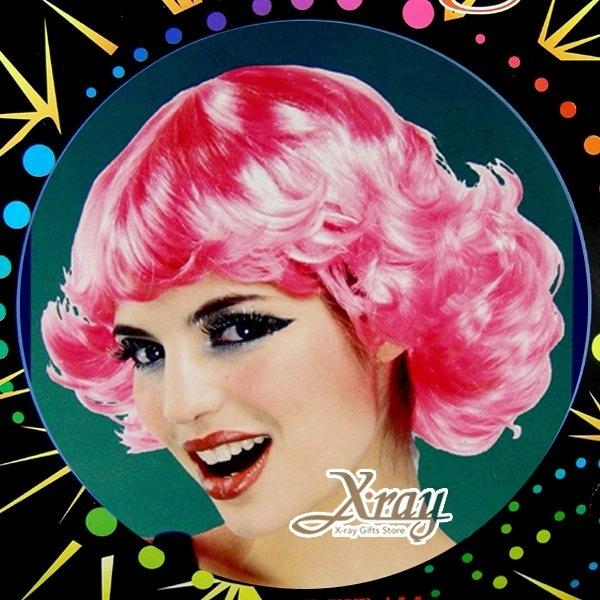 粉紅俏女郎假髮,萬聖節服裝/表演道具/造型假髮/角色扮演,節慶王【W030031】