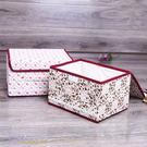 收納箱   花朵棉布蕾絲收納盒8L 衣物...