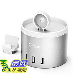 [美國直購] Oittm B01LXLUD3I 銀色 Apple Watch Series 2 充電座 3-Port USB Charging Dock for iPhone 7 Plus