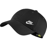 NIKE 運動帽 NSW 黑 小LOGO 刺繡 可調式 棒球帽 老帽 男女 (布魯克林) AO8662-010