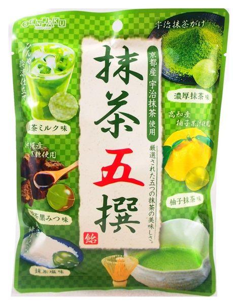 《松貝》扇雀飴五撰綜合抹茶糖80g【4901650103249】ca40