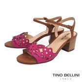 Tino Bellini巴西進口浪漫雕花高跟涼鞋_ 桃紅 A73011 歐洲進口款