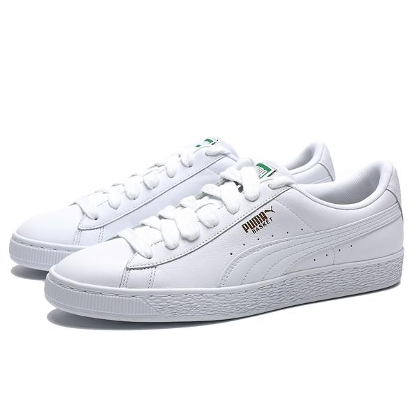 PUMA BASKET CLASSIC LFS  皮革 全白 白金 休閒鞋 男 (布魯克林) 35436717