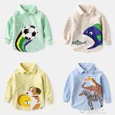 男寶寶純棉長袖2卡通百搭3歲兒童襯衫4男童襯衣外套5童裝 沸點奇跡