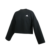 ADIDAS 女長袖T恤(免運 亞規 短版 休閒 上衣 愛迪達≡排汗專家≡