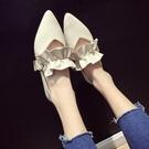 女2018新款韓版百搭尖頭鞋子女低跟平底...