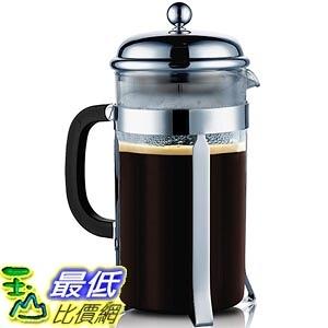[美國直購 現貨] SterlingPro Chrome-8 French Coffee Press --8 Cup/4 Mug (1 liter, 34 oz),Chrome 咖啡壺_TB0