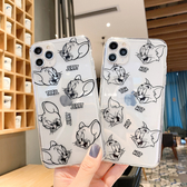 【SZ13】iphone 8plus 保護殼 貓和老鼠透明殼 iphone 11Promax 手機殼 i7 6s xs xr 手機殼 ixs max 手機殼