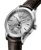 AEROWATCH 全球限量50年代手上鍊古董機芯腕錶-銀 A93955AA01
