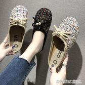 韓版包頭半拖鞋女新款夏季鏤空透氣亞麻懶人漁夫鞋涼拖鞋防滑  英賽爾3c