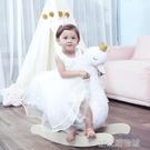 哈喜屋兒童搖搖馬白色天鵝木馬嬰兒玩具禮物寶寶搖椅 新北購物城